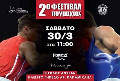 2ο φεστιβάλ πυγμαχίας, αφίσα